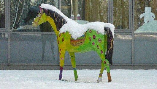 Pferdeskulptur der Tagesklink fuer Kinder- und Jugendpsychiatrie